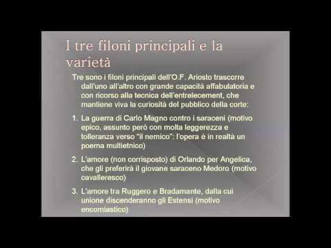 Relazione di Italiano sull' Orlando Furioso di Ludovico Ariosto – di Elisa Ambivero