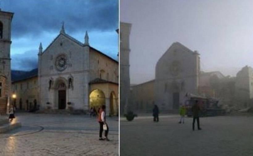 Risultati immagini per san benedetto norcia prima e dopo