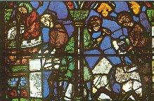 Nella vetrata il lavoro degli artigiani (1200-1240).