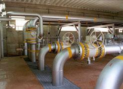 porzione di una rete di   distribuzione del metano