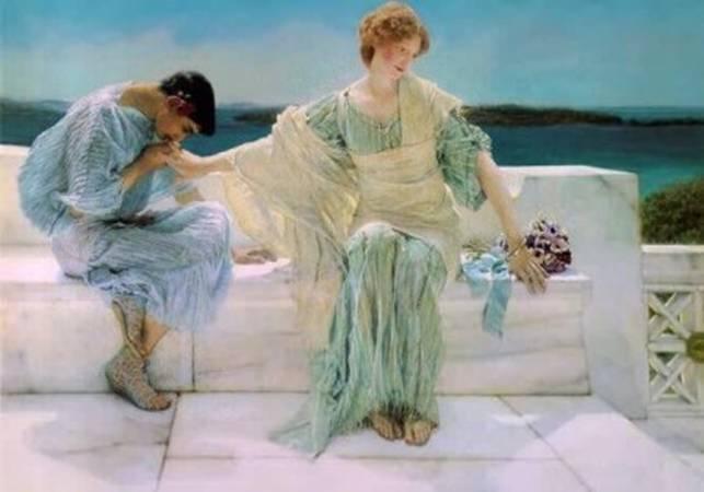 [Alma-Tadema - art print, poster - Ask Me No More]