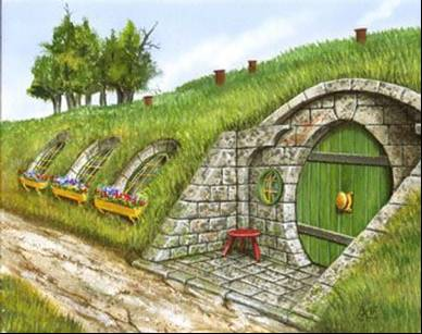 Bag End, the Home of Bilbo Baggins
