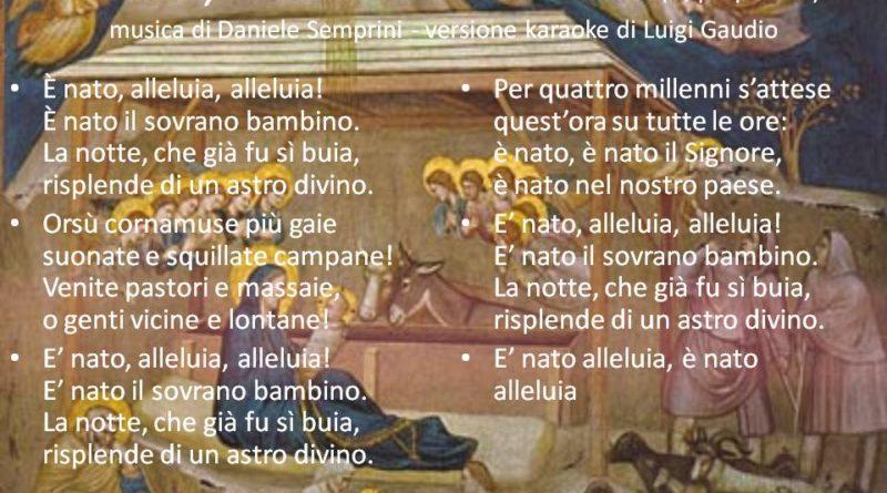 È nato, alleluia testo di Guido Gozzano