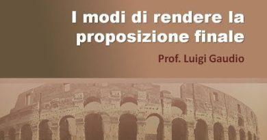 I modi di rendere la proposizione finale in latino