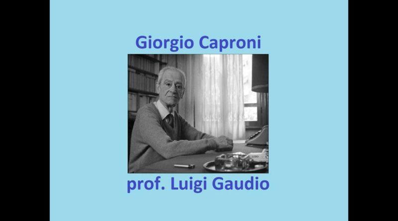 Preghiera di Giorgio Caproni