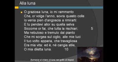 Alla luna di Giacomo Leopardi