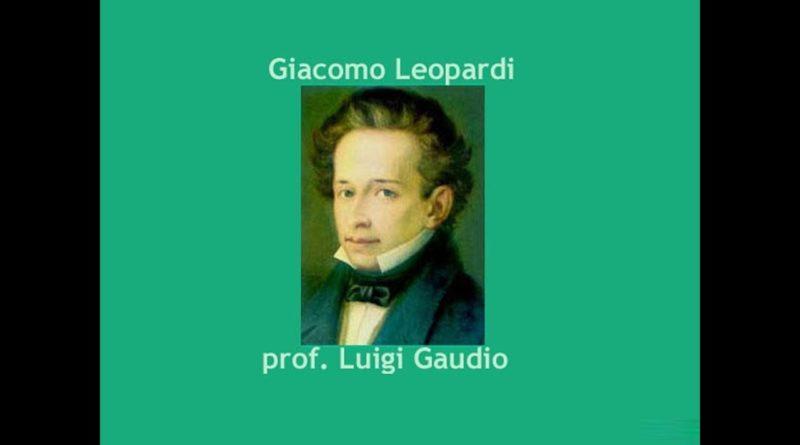 Il tramonto della l'una di Giacomo Leopardi