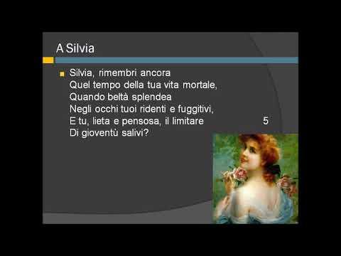 Lettura e commento della poesia A Silvia di Giacomo Leopardi