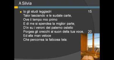 Parafrasi della poesia A Silvia di Giacomo Leopardi
