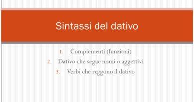 Funzioni e costrutti del dativo