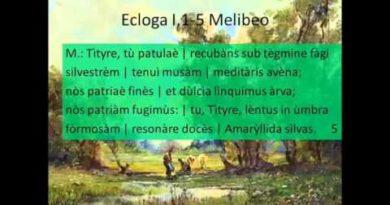 Prima parte del commento e dell'analisi della Prima Ecloga dalle Bucoliche di Virgilio vv. 1-17