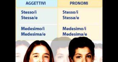 Pronomi e aggettivi dimostrativi identificativi e indefiniti