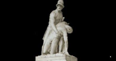 Andromaca dalle mura scorge il cadavere di Ettore Iliade XXII vv. 437-472