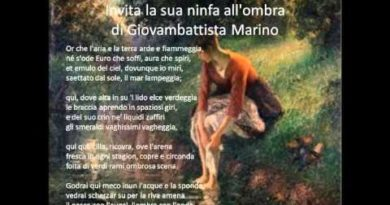 Invita la sua ninfa all'ombra – sonetto di Giovan Battista Marino