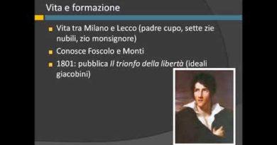 La vita e l'opera di Alessandro Manzoni