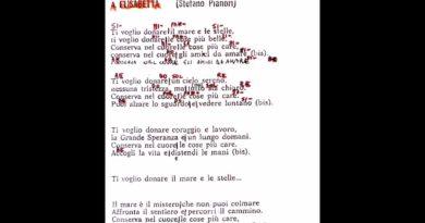 A Elisabetta di Stefano PIanori
