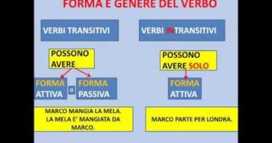 Verbi transitivi e intransitivi