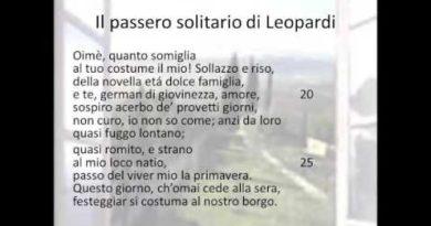 Il passero solitario   prima parte   di Giacomo Leopardi