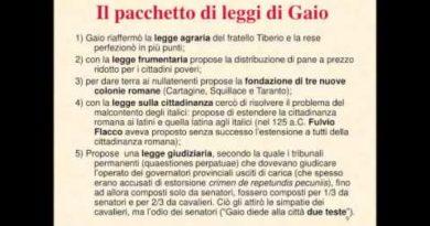 Le riforme dei Gracchi seconda parte: Caio Gracco