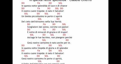 In questa notte splendida cover Claudio Chieffo
