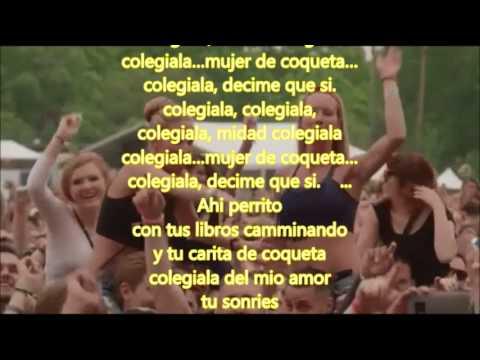 La colegiala cover lyrics