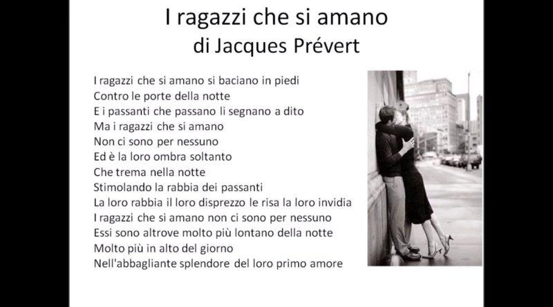 I ragazzi che si amano di Jacques Pre'vert