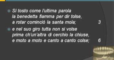 La divina Commedia Paradiso canto XII vv. 1-54