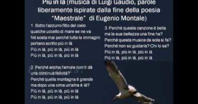 Piu' in la' canzone liberamente ispirata alla poesia Maestrale di Eugenio Montale