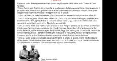 La riforma di Tiberio e di Caio Gracco