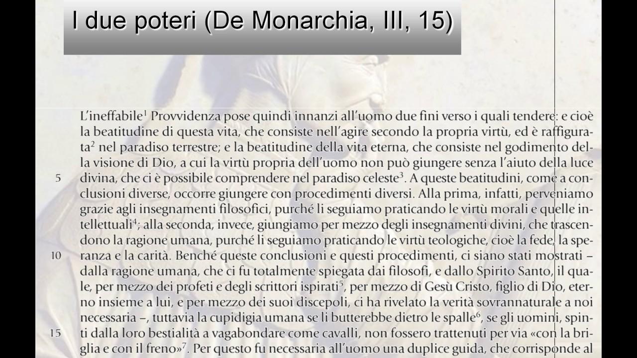 I due poteri dal De Monarchia di Dante Alighieri