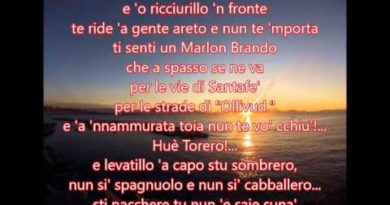 Torero cover lyrics Carosone