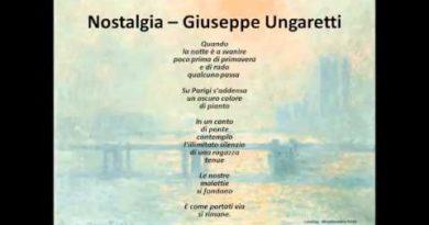 Nostalgia di Giuseppe Ungaretti