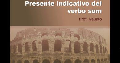 Presente indicativo del verbo sum
