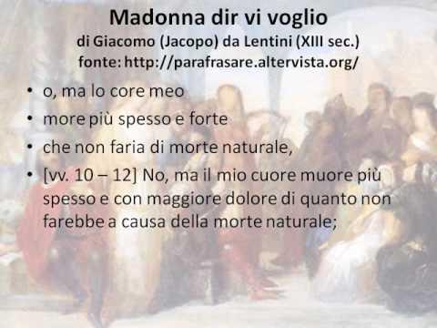Madonna dir vi voglio di Giacomo da Lentini