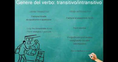 I verbi transitivi e intransitivi