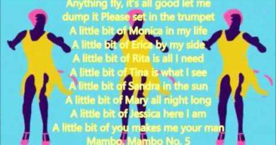Mambo n.5 cover lyrics con testo