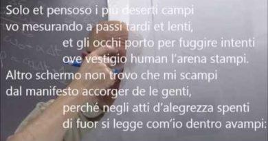 Solo et pensoso i piu' deserti campi di Francesco Petrarca
