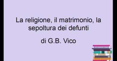 Giambattista Vico: la religione il matrimonio e la sepoltura nella Scienza nuova