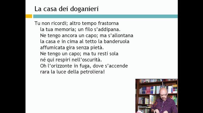 La casa dei doganieri – Eugenio Montale – Lezioni di Letteratura del 900