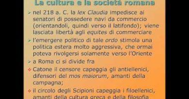 I cambiamenti nella societa' romana del secondo secolo a.C.