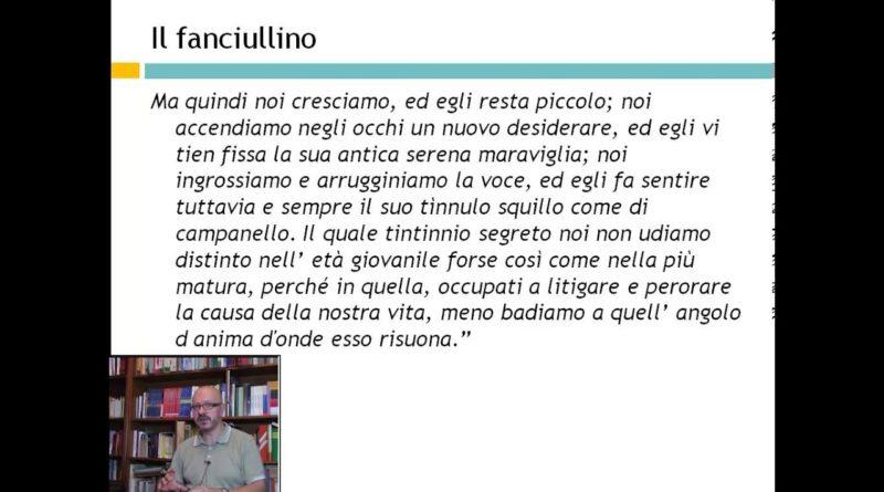 Letteratura Italiana del '900 – Giovanni Pascoli: Il Fanciullino