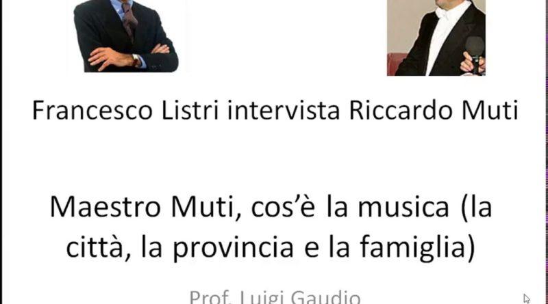 Maestro Muti cos'e' la musica intervista di Pier Francesco Listri