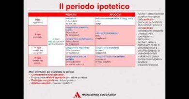 Funzione attributiva e predicativa degli aggettivi e periodo ipotetico indicativo