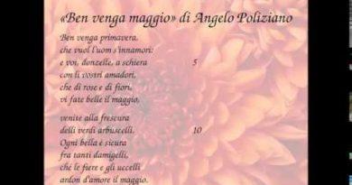 Ben venga maggio di Angelo Poliziano