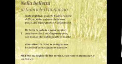 Nella belletta di Gabriele D'Annunzio