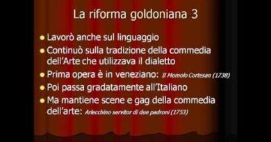 Le fasi della riforma goldoniana