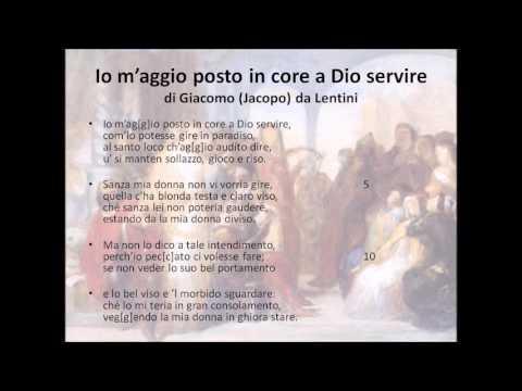 Tre sonetti di Giacomo da Lentini
