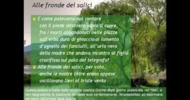 Alle fronde dei salici di Salvatore Quasimodo