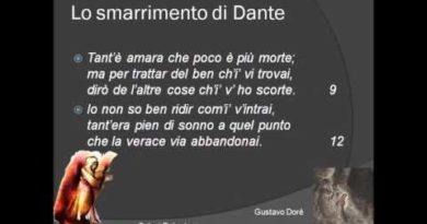 La Divina Commedia Inferno Canto I vv  1-45