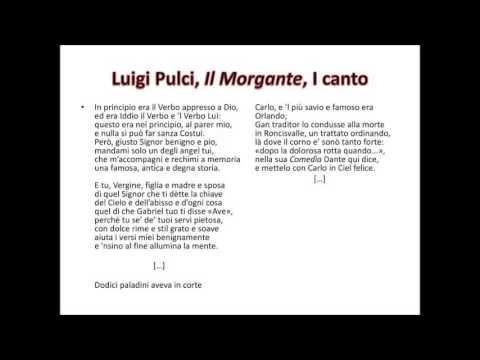La letteratura cavalleresca e il Morgante di Luigi Pulci